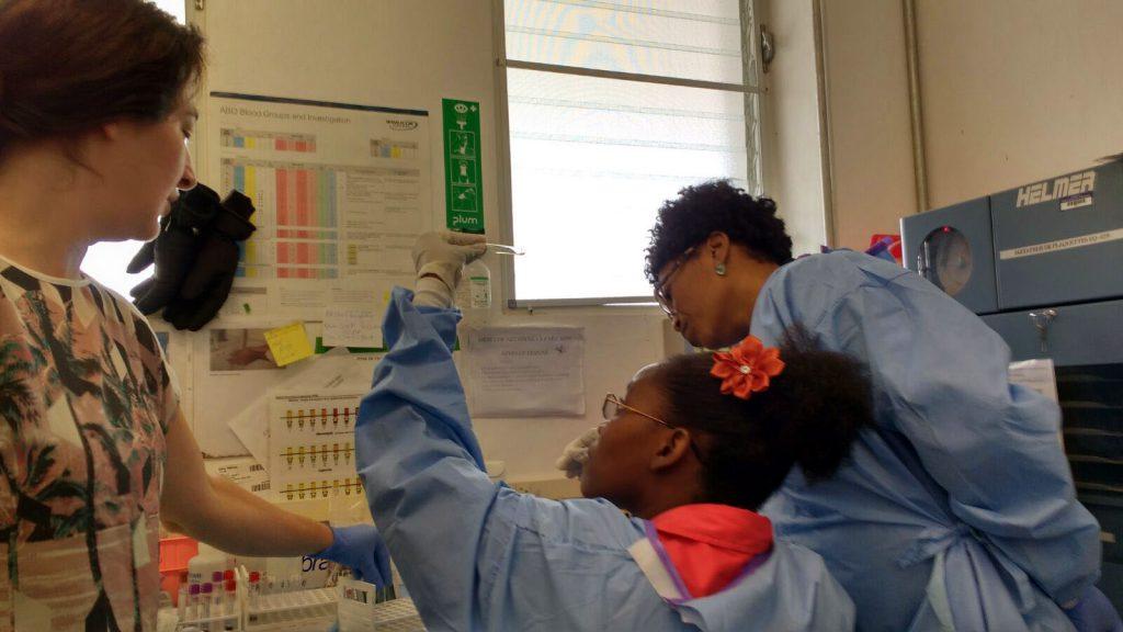 Haiti Blood Bank technician training