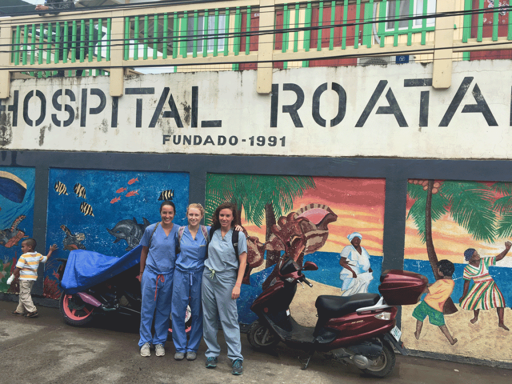 Casey Jereb and residents at Public Hospital Roatan